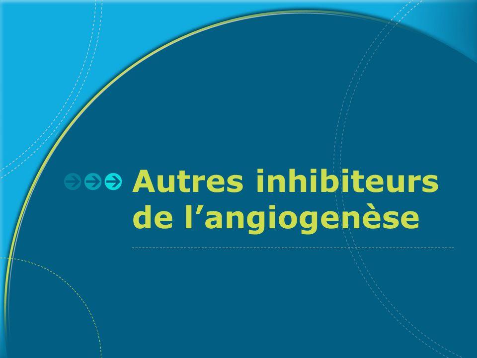 Autres inhibiteurs de langiogenèse