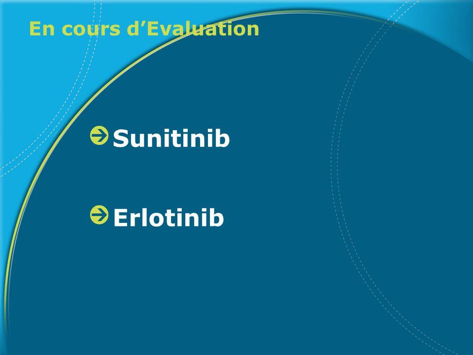En cours dEvaluation Sunitinib Erlotinib