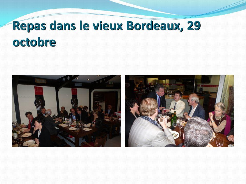 Repas dans le vieux Bordeaux, 29 octobre