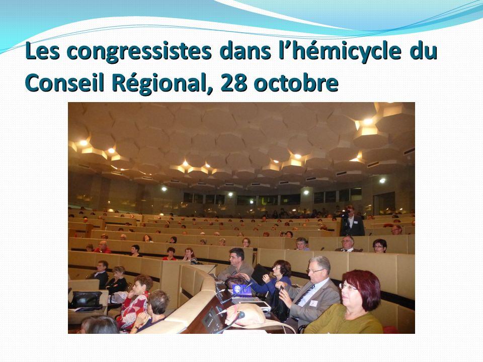 Les congressistes dans lhémicycle du Conseil Régional, 28 octobre