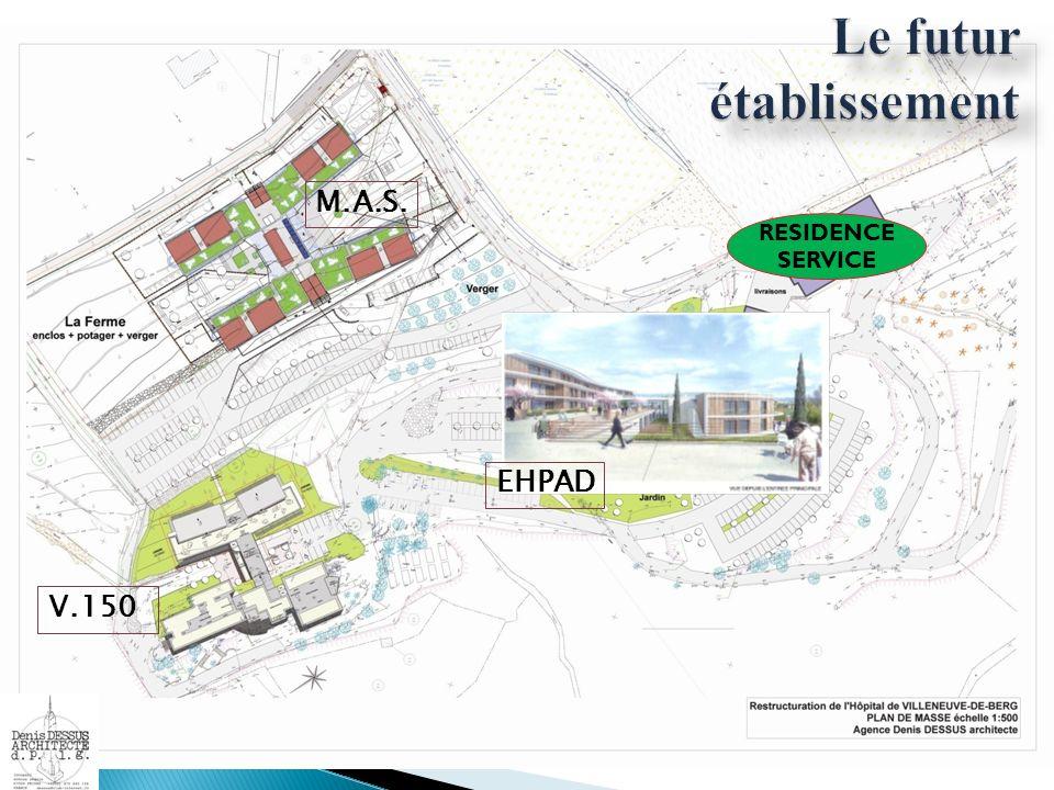 Le futur établissement M.A.S. V.150 Nouvel EHPAD EHPAD RESIDENCE SERVICE