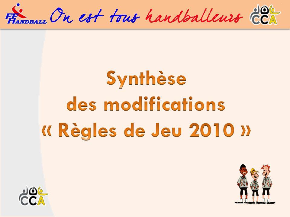 Synthèse des modifications « Règles de Jeu 2010 » 22 Règles de Jeu 2010 - Modifications Règle 8 - (Comportements - cas) OR 9 mars 2010 (Maj.