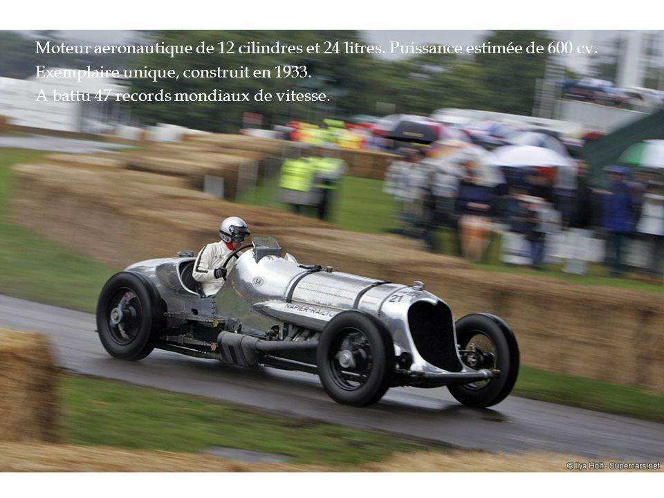 Moteur aeronautique de 12 cilindres et 24 litres.Puissance estimée de 600 cv.