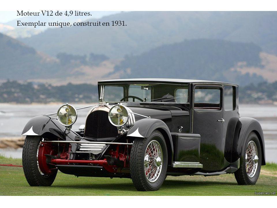 Moteur V12 de 4,9 litres. Exemplar unique, construit en 1931.