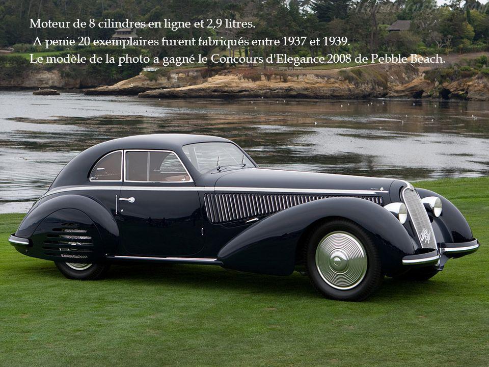 Moteur de 8 cilindres en ligne et 2,9 litres.