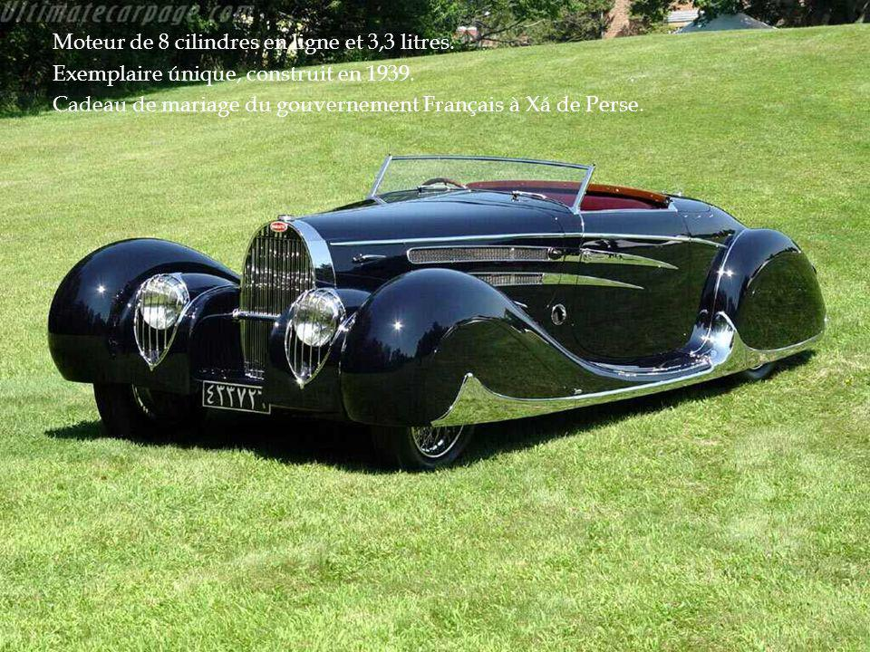 Moteur de 8 cilindres en ligne et 3,3 litres.Exemplaire únique, construit en 1939.