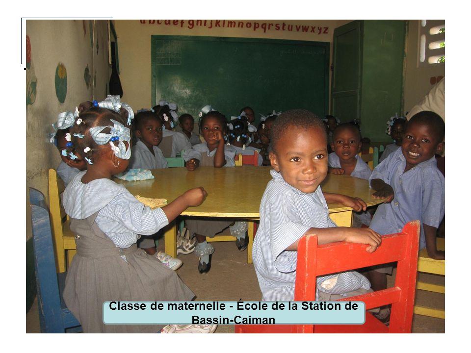 Classe de maternelle - École de la Station de Bassin-Caiman