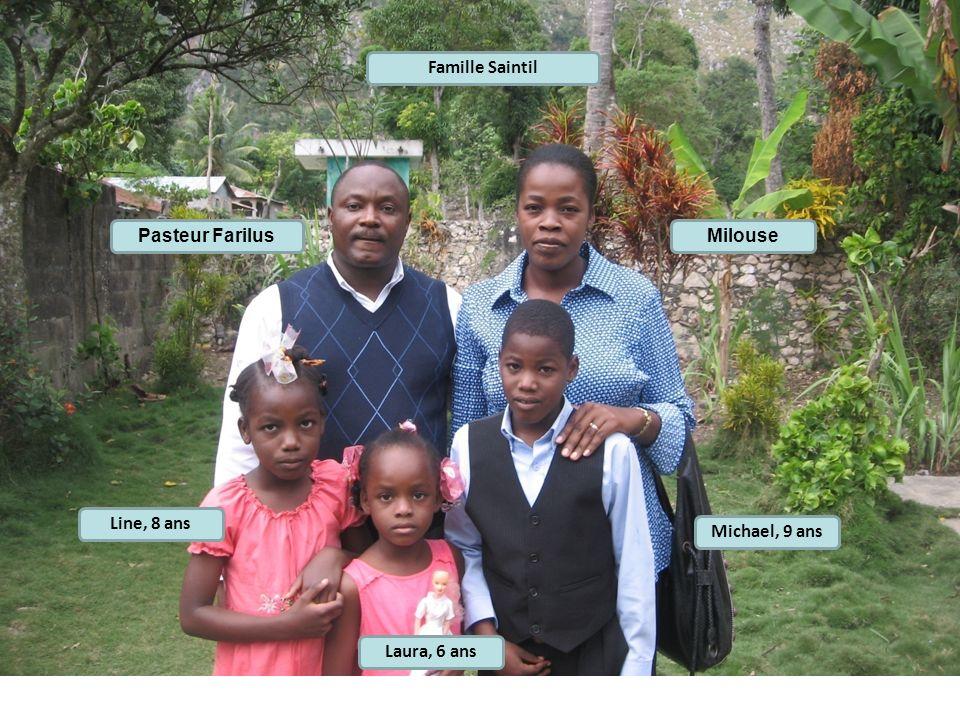 MilousePasteur Farilus Famille Saintil Michael, 9 ans Line, 8 ans Laura, 6 ans