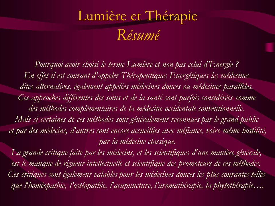 Lumière & Thérapie Madeleine & Rolland CONTE Mars 2005