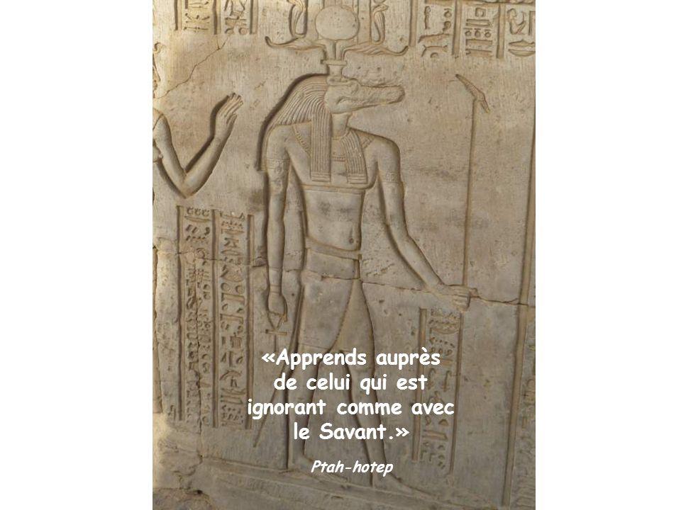«L art n a pas de limite et aucun artiste ne possède la perfection» Ptah-hotep