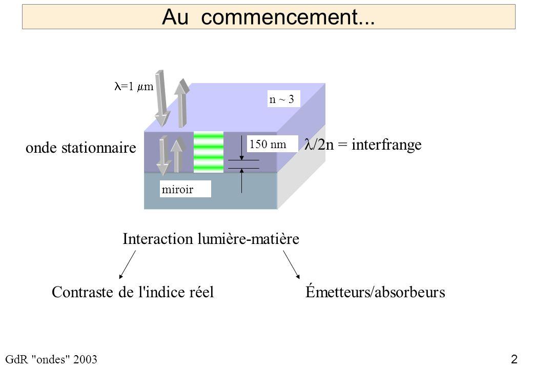 2 GdR ondes 2003 Au commencement...