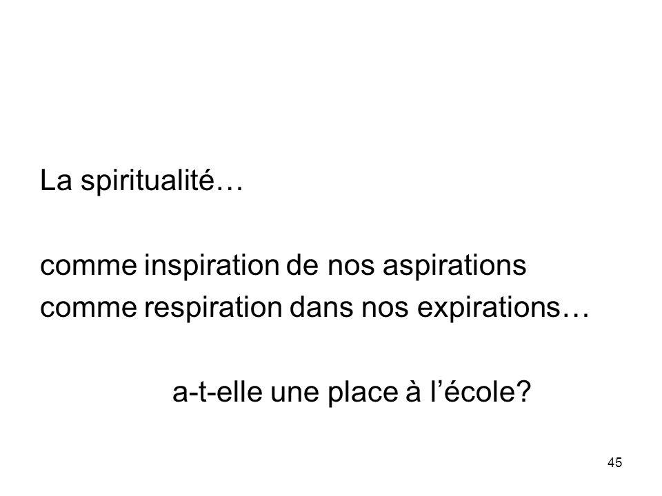 46 Quel enseignement dune spiritualité.