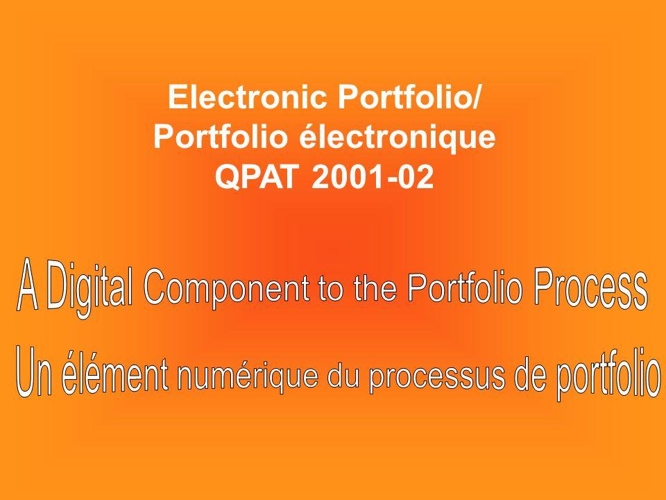 Electronic Portfolio/ Portfolio électronique QPAT 2001-02