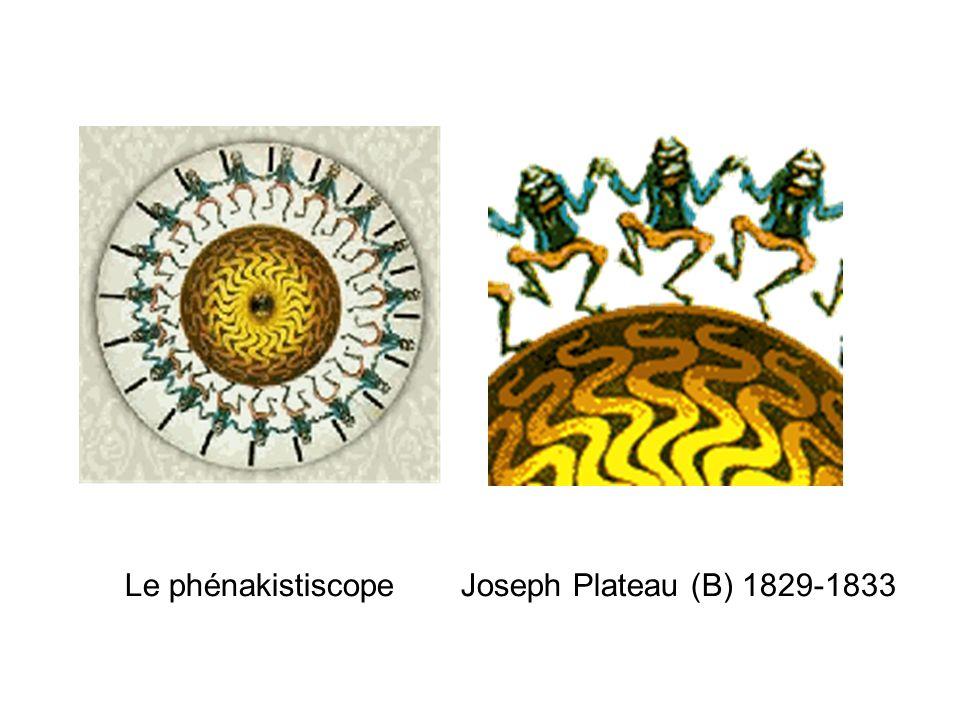 Le phénakistiscope Joseph Plateau (B) 1829-1833