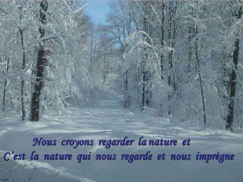 Le Bonheur est comme la neige: Il est doux, il est pur et il fond …