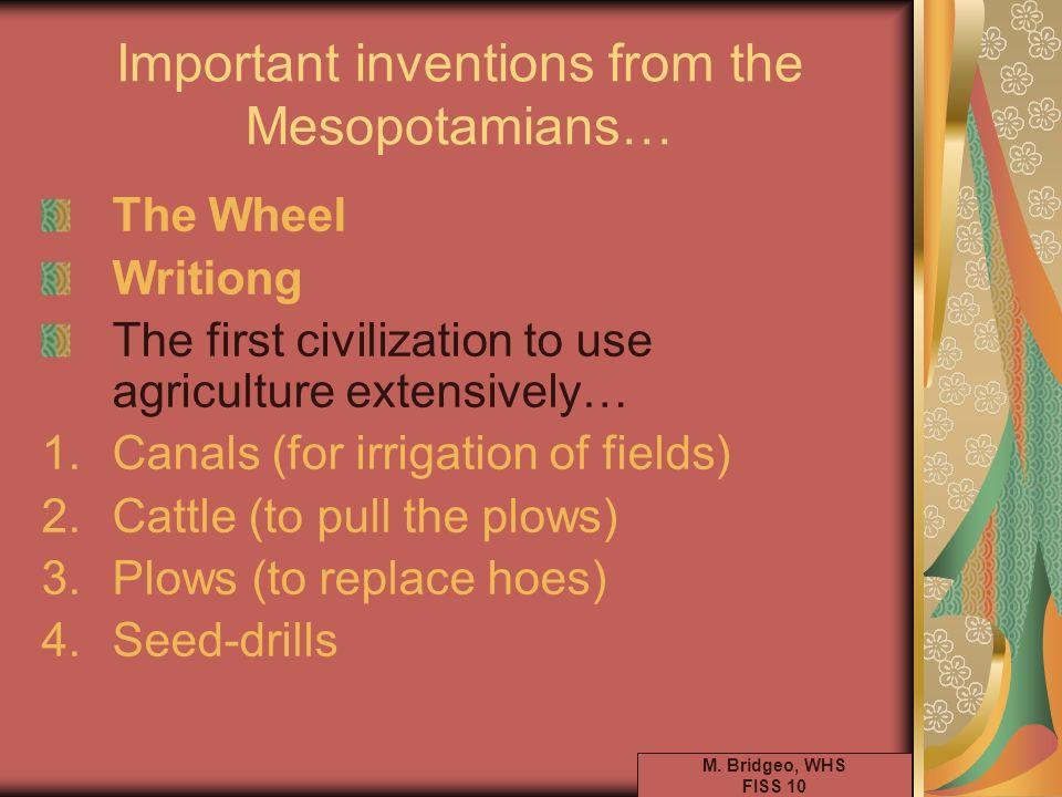 La Mésopotamie…quelques questions 1.Dans quelle région du monde se trouvait la Mésopotamie.