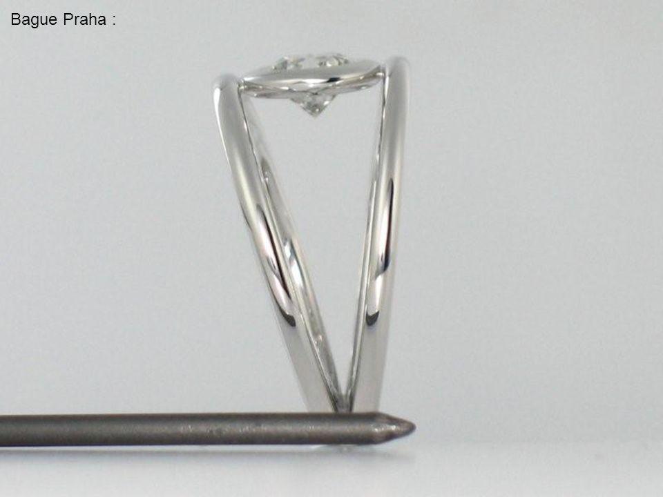 Bague Praha : diamant 3,02 carats sur or jaune