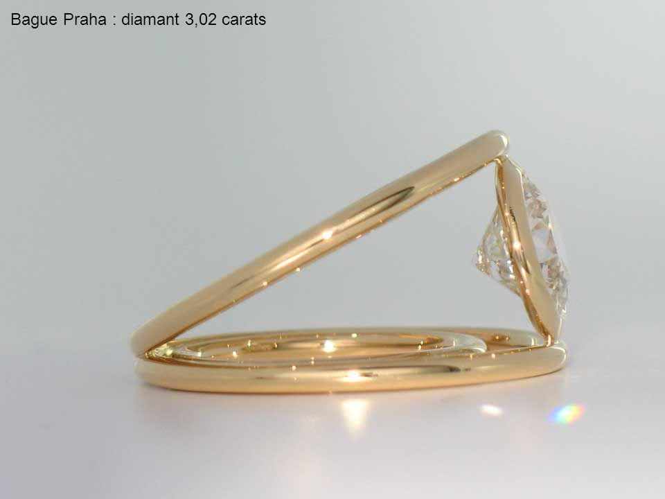 Bague Praha : diamant 3,02 carats