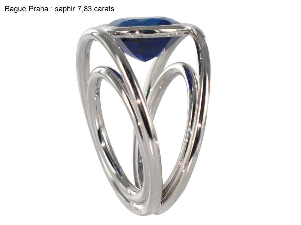 Bague Praha : saphir 7,83 carats