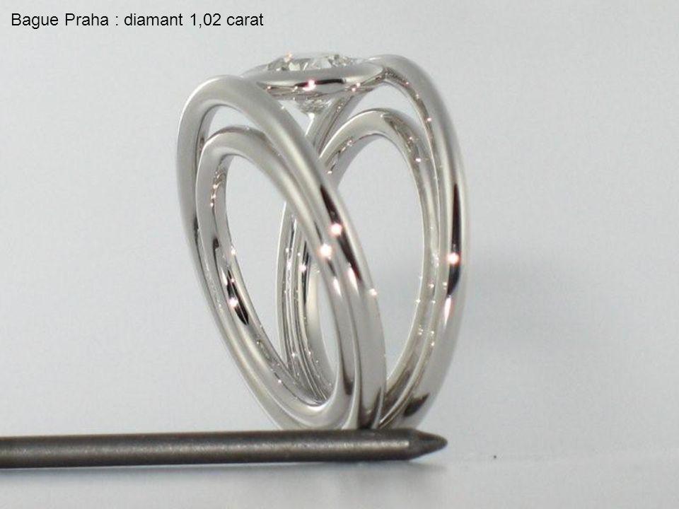 Bague Praha : diamant 1,02 carat