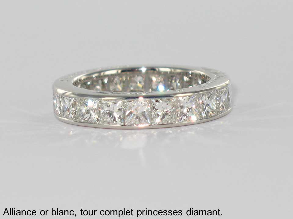 Alliance or blanc, tour complet princesses diamant.