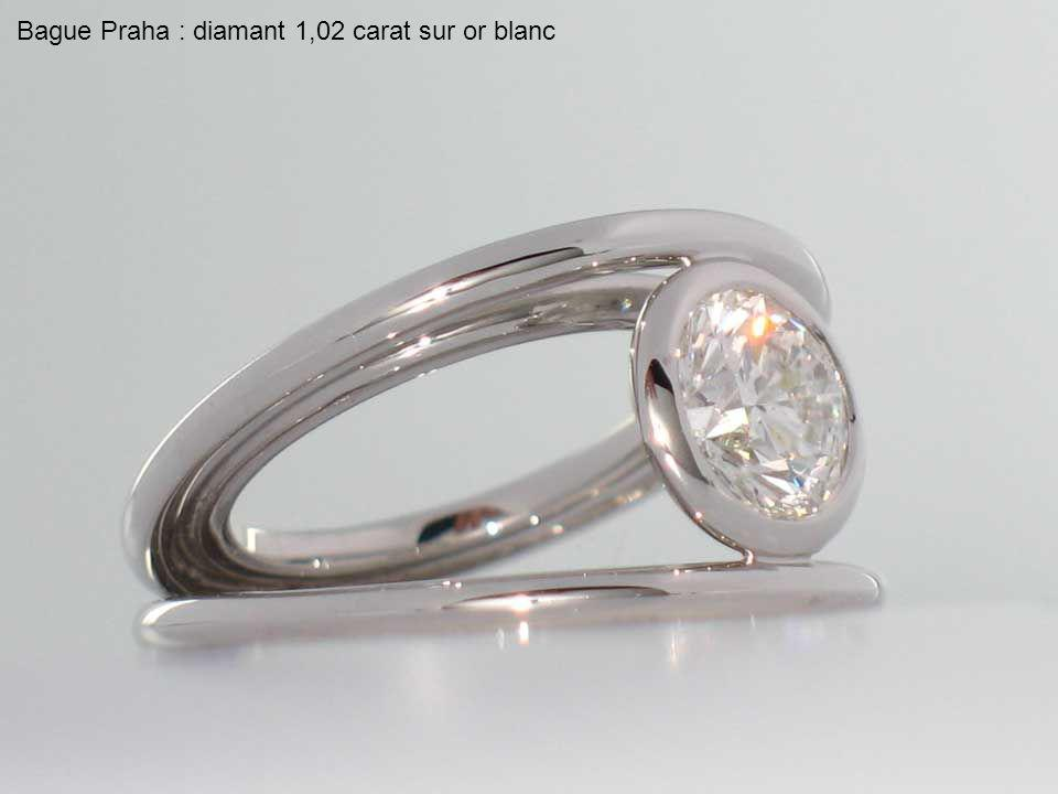 Bague Praha : diamant 7,55 carats
