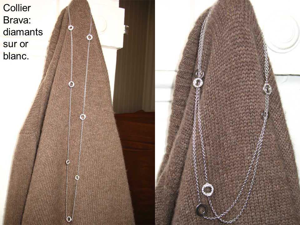 Collier Brava: diamants sur or blanc.