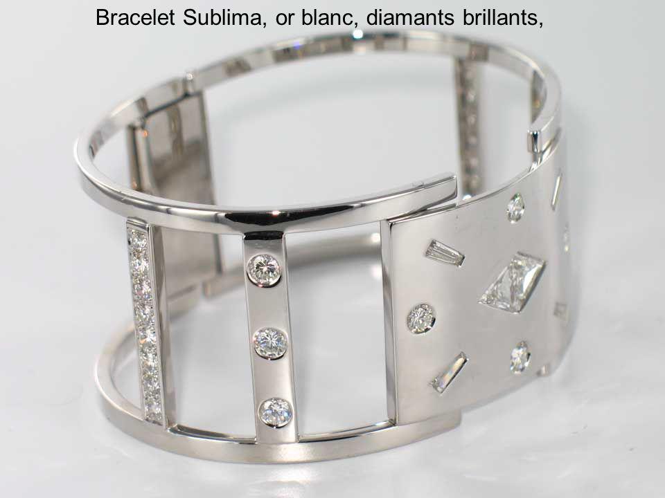 Bracelet Sublima, or blanc, diamants brillants,