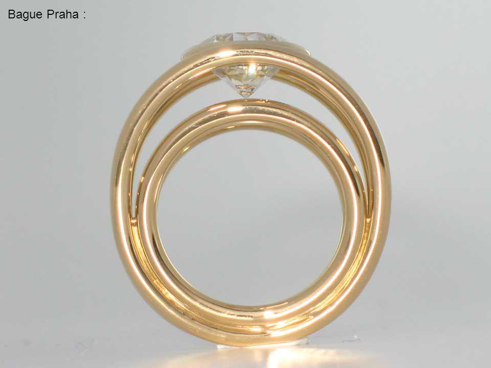 Bague Erica Or blanc Diamant 2,20 carats & baguettes diamant.