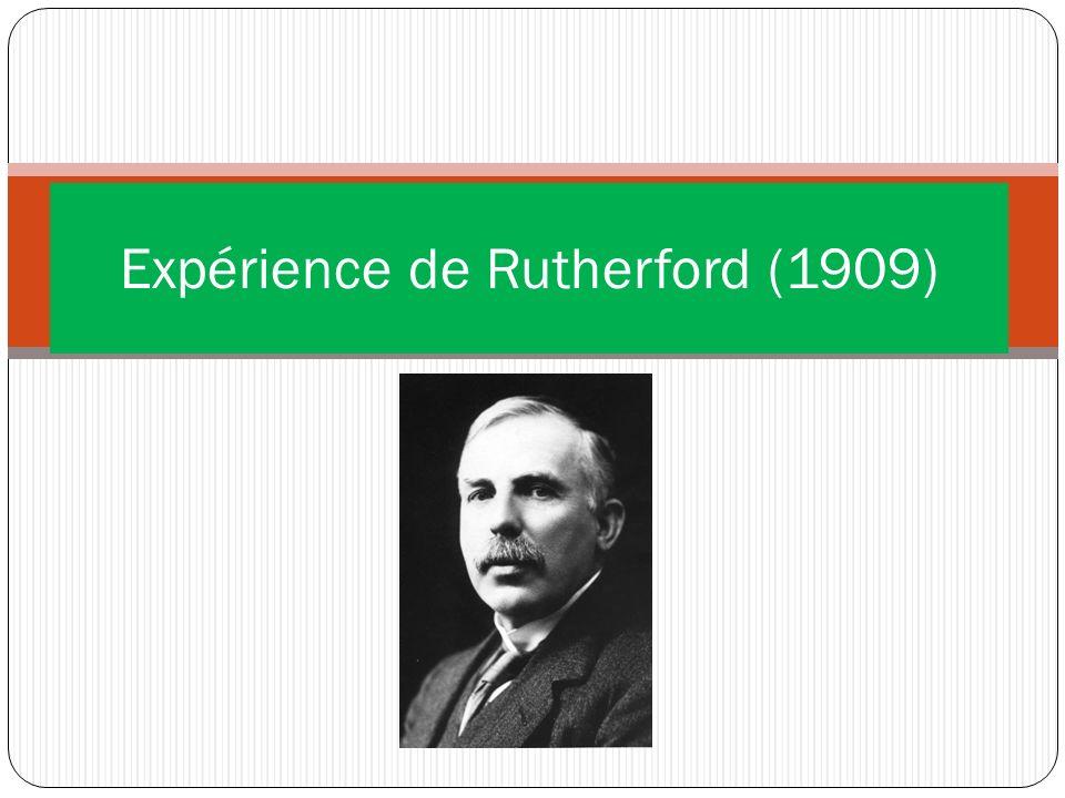 Expérience de Rutherford (1909)