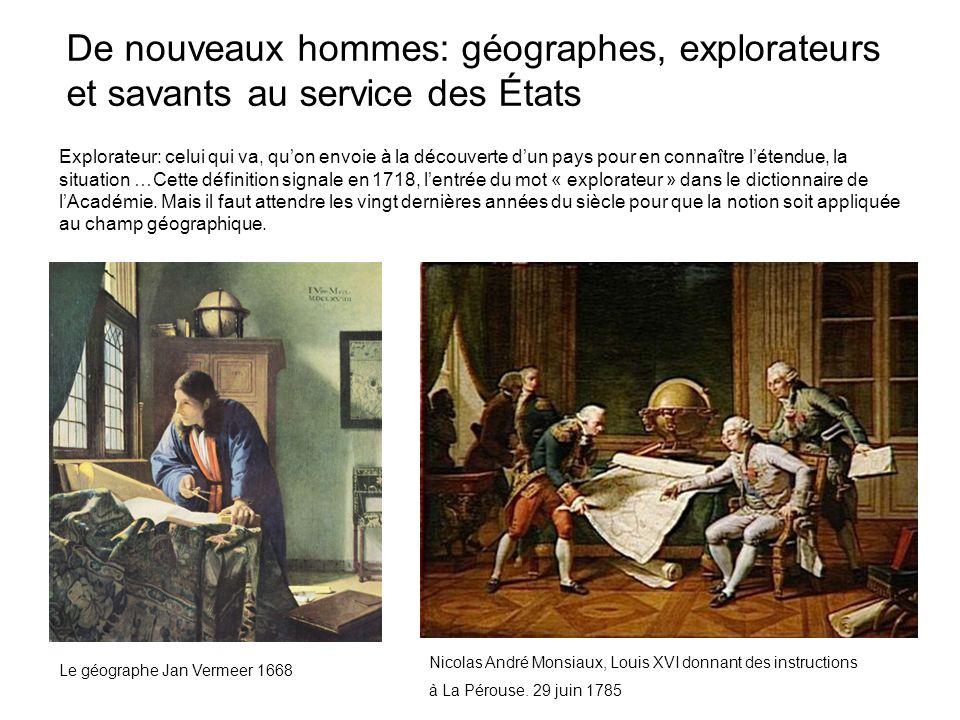 Explorateur: celui qui va, quon envoie à la découverte dun pays pour en connaître létendue, la situation …Cette définition signale en 1718, lentrée du