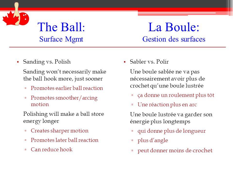 The Ball: Surface Mgmt La Boule: Gérer la surface 2000 Sanded Fresh Vs.