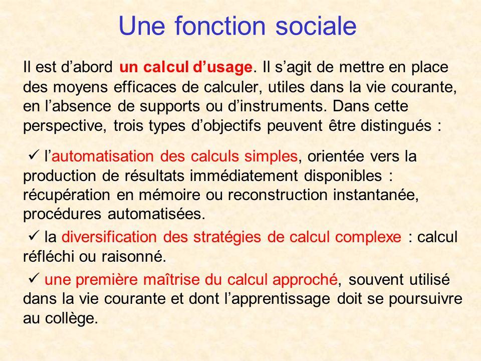 Une fonction sociale Il est dabord un calcul dusage.