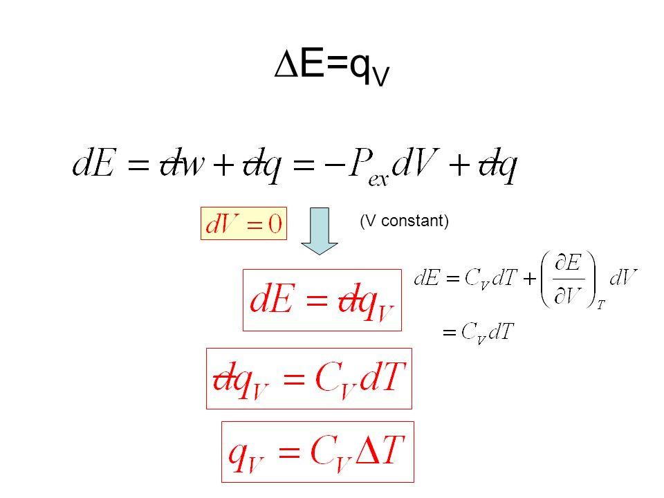 E=q V (V constant)