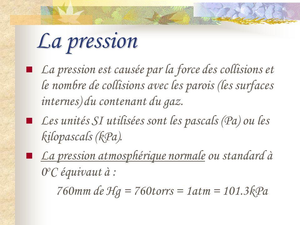 La pression Linstrument qui sert à mesurer la pression des gaz est le manomètre.