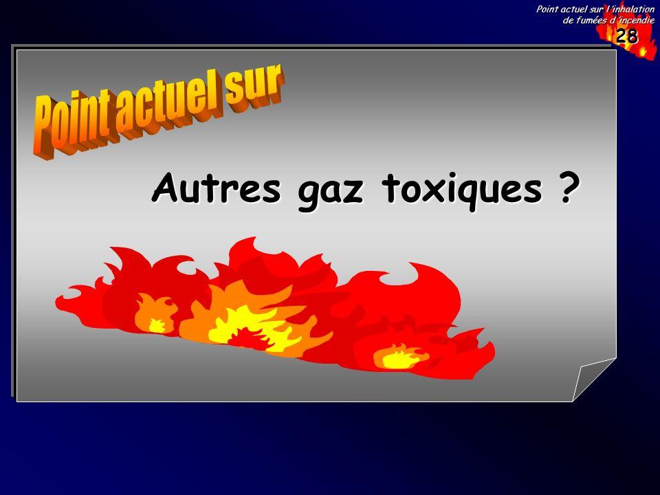 28 Point actuel sur l inhalation de fumées d incendie Autres gaz toxiques ?