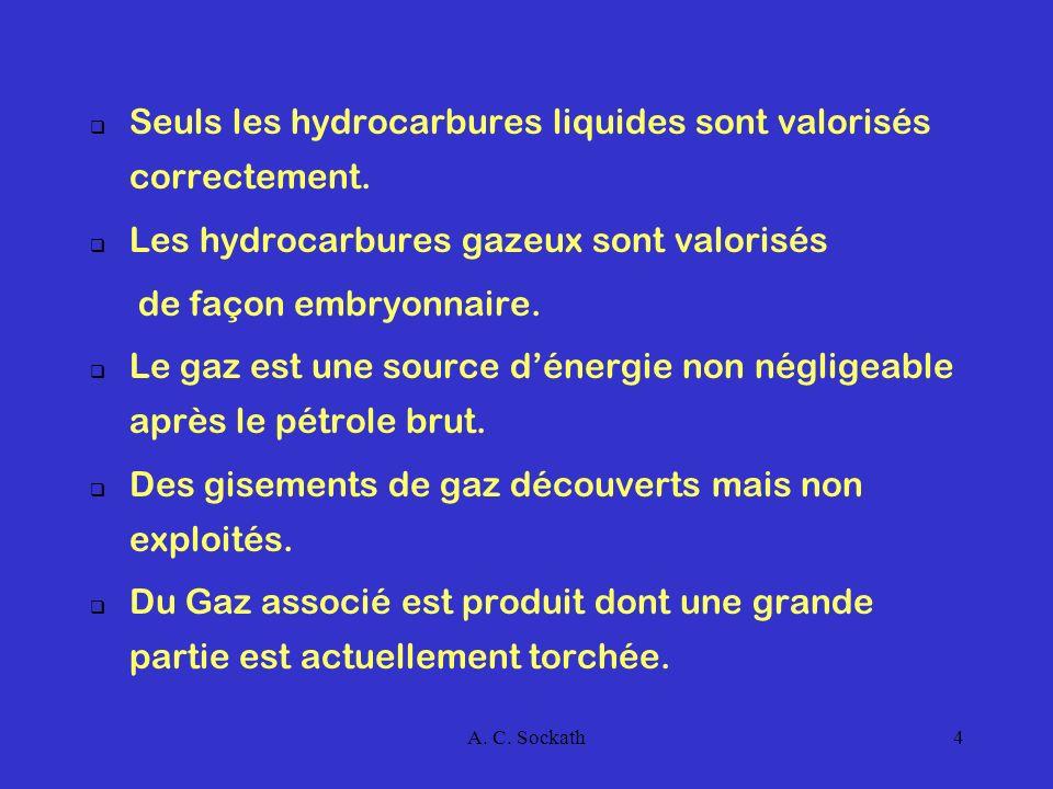 A.C. Sockath5 II.- LES RESERVES DE GAZ Le Congo possède du gaz naturel et produit du gaz associé.