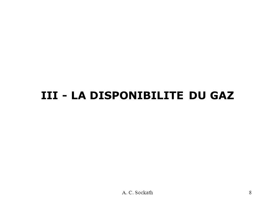 A. C. Sockath8 III - LA DISPONIBILITE DU GAZ