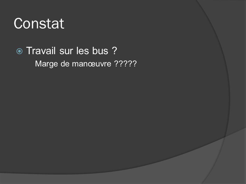 Constat Travail sur les bus Marge de manœuvre