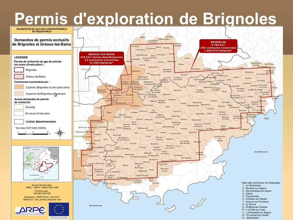 Permis d'exploration de Brignoles