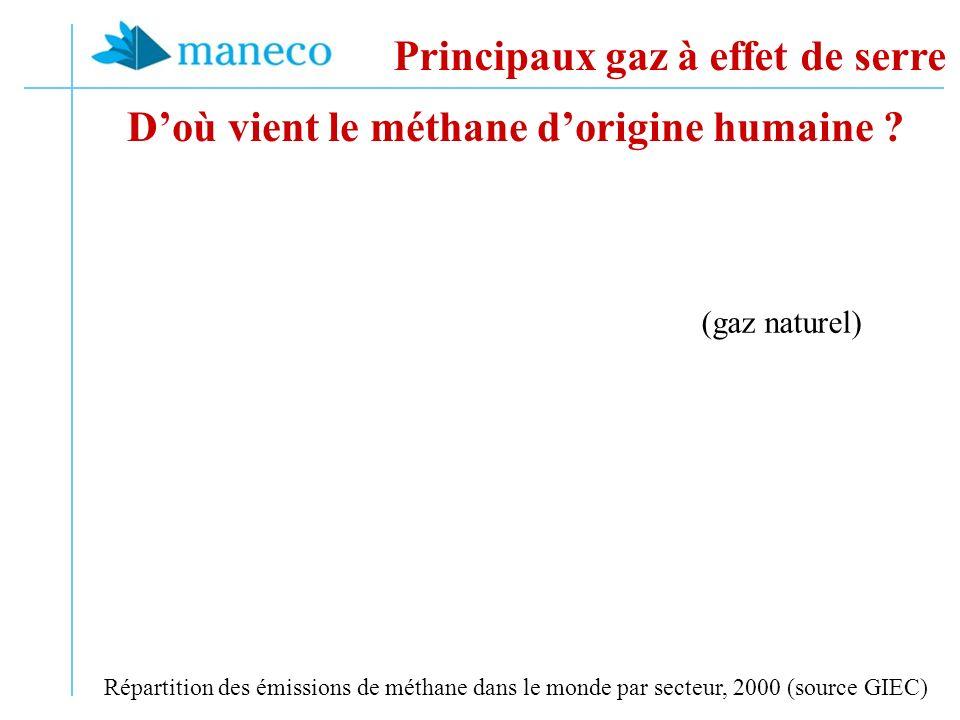 Doù vient le méthane dorigine humaine .