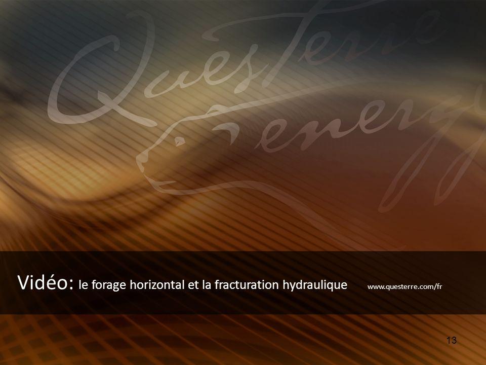 13 Vidéo: le forage horizontal et la fracturation hydraulique www.questerre.com/fr