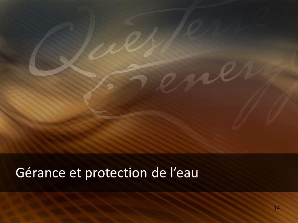 14 Gérance et protection de leau