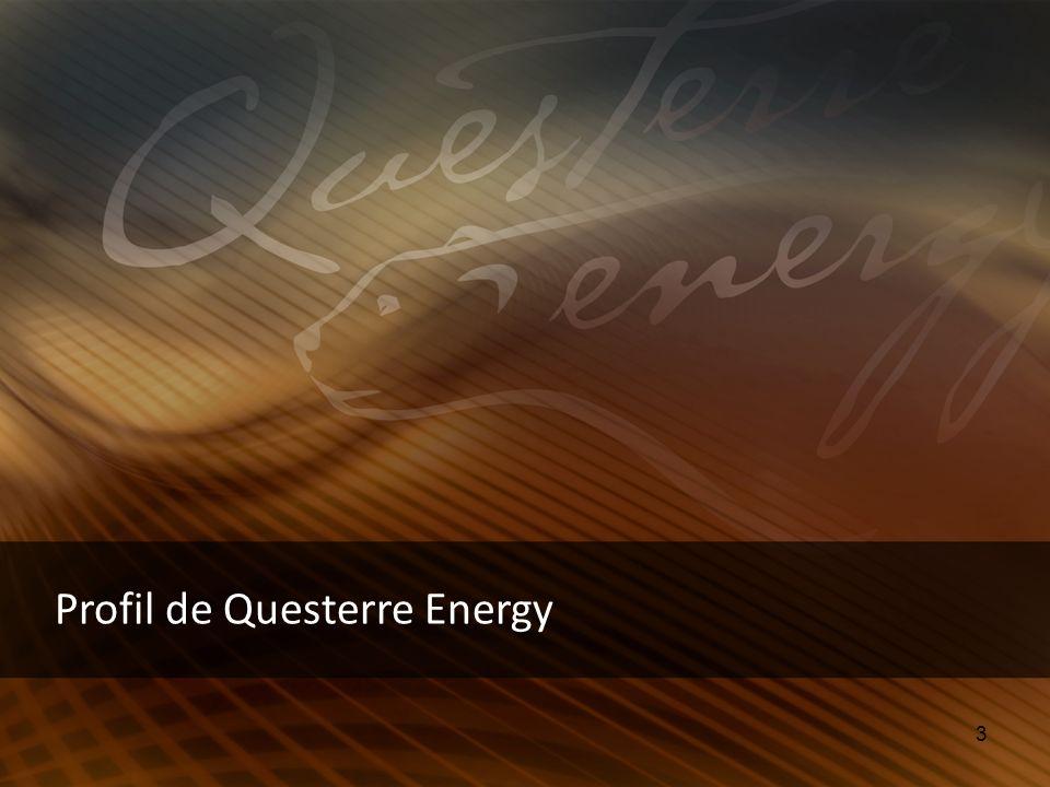 4 Questerre fut le pionnier de lexploration du gaz naturel au Québec alors que lentreprise y est établie depuis 1998 Découverte de 17,99 Tpc (trillions de pieds cubes) ou 3 milliards bep (barils équivalent de pétrol) de gaz récupérable dans les shales dUtica, situé dans son territoire dexploitation Bilan impressionant, équipe de gestion expérimentée et bons coentrepreneurs Profil de Questerre Energy