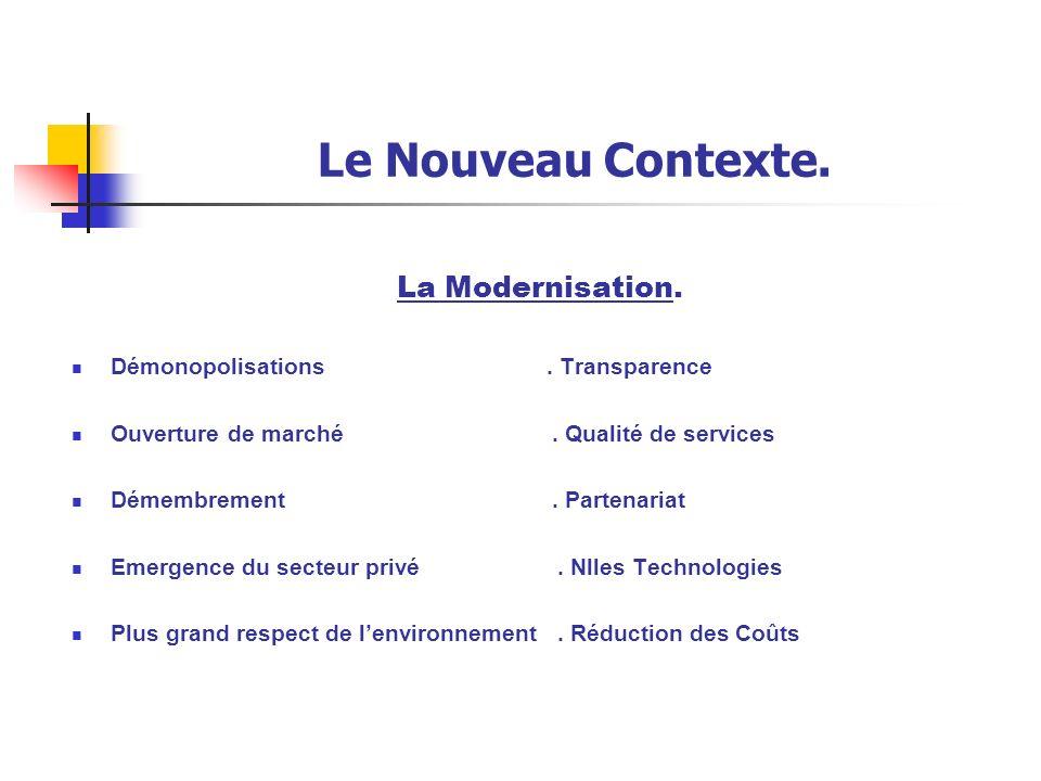 Le Nouveau Contexte.Renforcement de lOutil National.
