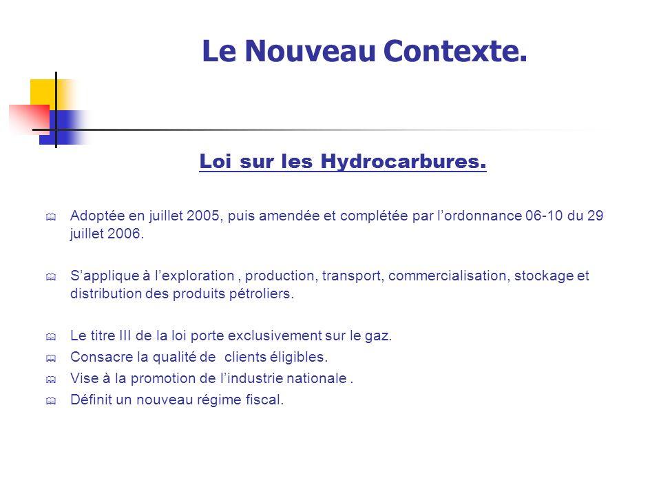 Le Nouveau Contexte.Loi sur les Hydrocarbures.