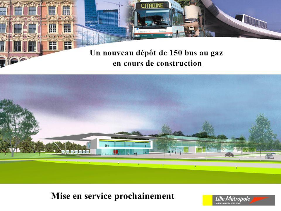 Un nouveau dépôt de 150 bus au gaz en cours de construction Mise en service prochainement