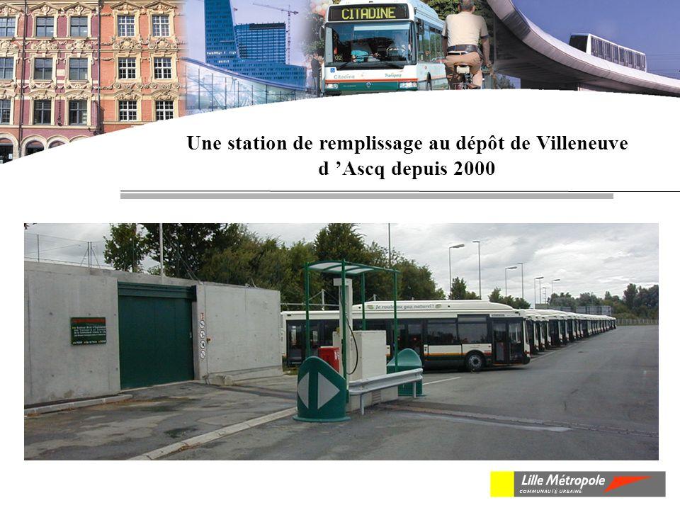Une station de remplissage au dépôt de Villeneuve d Ascq depuis 2000