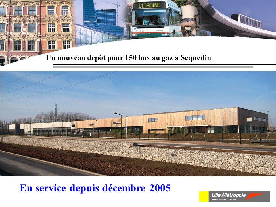 Un nouveau dépôt pour 150 bus au gaz à Sequedin En service depuis décembre 2005