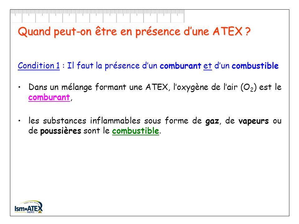 Quest-ce quune ATEX ? Une atmosphère explosive (ATEX) est un mélange avec lair, dans les conditions atmosphériques, de substances inflammables sous fo